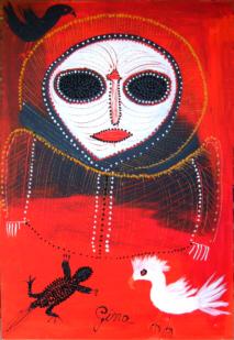 Gina-Sinozich-Red-Wanjina-of-Courage
